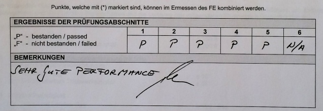 """Sehr gute Performance""."